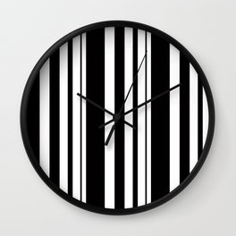 Black and white striped . Wall Clock