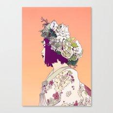 Geisha Under the Sun Canvas Print