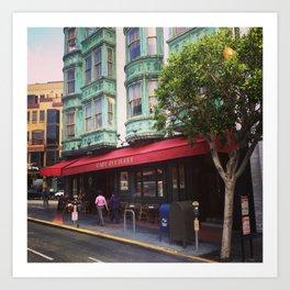 Cafe Zoetrope - City of San Francisco Art Print