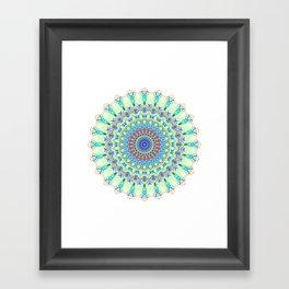 Snowflake #001 transparent Framed Art Print