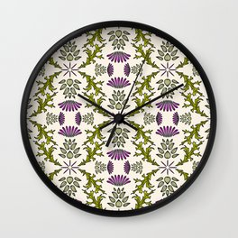 Wild Thistle Meadow Wall Clock