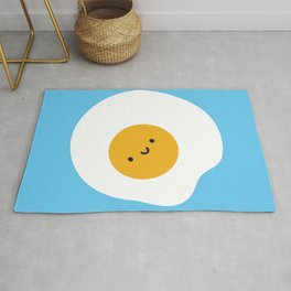 Kawaii Fried Egg Rug