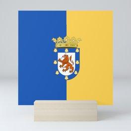 flag of santiago de Chile Mini Art Print