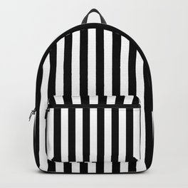 Classic Black and White Vertical Stripes Backpack