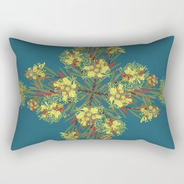 2941-Bottlebrush#1-P2-Teal Rectangular Pillow