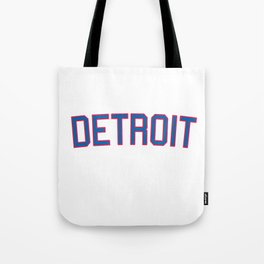Detroit Sports College Font Tote Bag