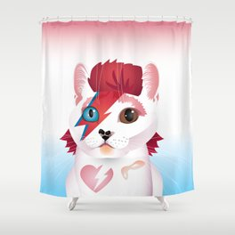 a cat insane Shower Curtain