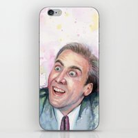 nicolas cage iPhone & iPod Skins featuring Nicolas Cage You Don't Say by Olechka