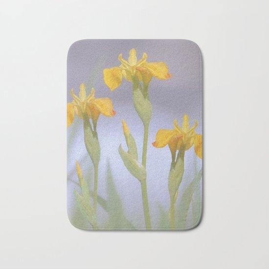Wild Summer Iris Bath Mat