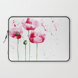 Expressive poppies || watercolor Laptop Sleeve
