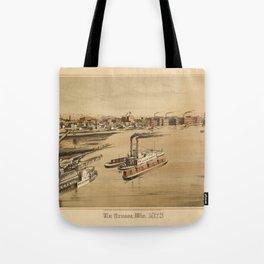 La Crosse Wisconsin 1873 Tote Bag