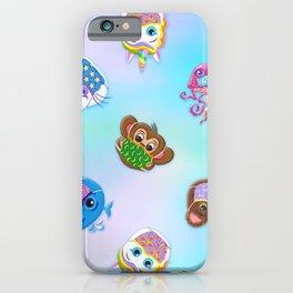 Animal Friends Pattern iPhone Case