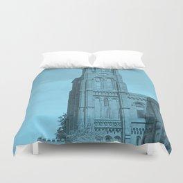 Blue Clock tower Duvet Cover