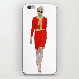 Runway Moschino Girl McDonalds iPhone Skin