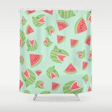 Watermelon Shark Shower Curtain