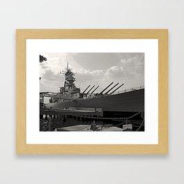 USS Wisconsin (BB-64) Framed Art Print