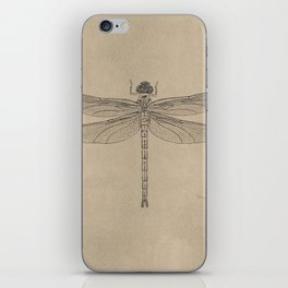 Dragonfly Fossil Dos iPhone Skin