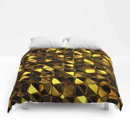 Golden Polygons 02 Comforters
