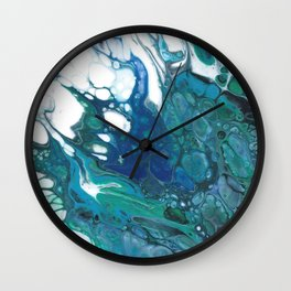 Blue Wisp Wall Clock