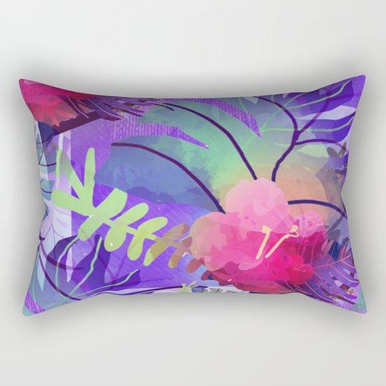 Purple Tropics Rectangular Pillow