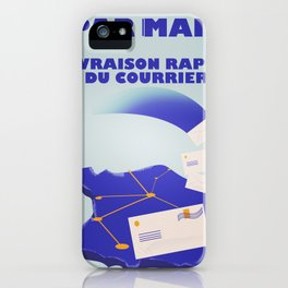 Vintage style French Mail Advert Art Print iPhone Case