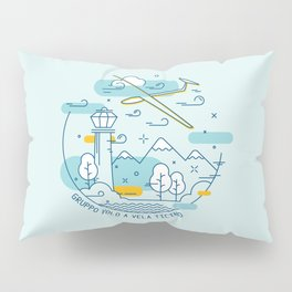GVVT - Line art colors version Gruppo Volo a Vela Ticino Pillow Sham