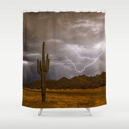 Darkness Illuminated Shower Curtain