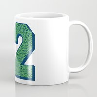 seahawks Mugs featuring Go Hawks 12_2 by Nuart Media Group