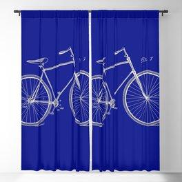 Vintage Bicycle Patent Blueprint Blackout Curtain