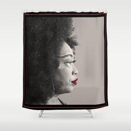 Keisha D Profile Shower Curtain