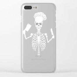 Skeleton Restaurant Cook  print Clear iPhone Case