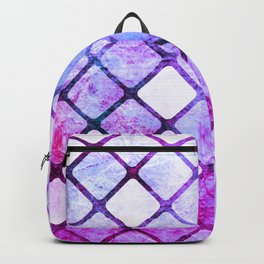 Purple Tiled Geometric Design Backpack