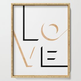 True Love Never Ends #minimal #words Serving Tray