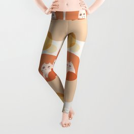 Abstraction_CAT_BUBBLES_DREAM_POP_ART_Minimalism_001A Leggings