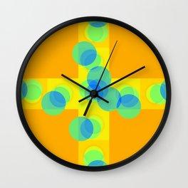 Mixed Shades of Freedom Wall Clock