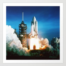 Space Shuttle Launch Art Print
