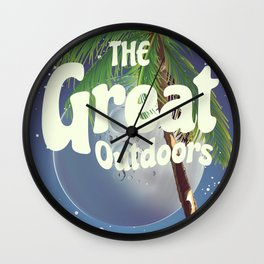 The Great Outdoors Moon Wall Clock