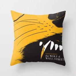 The Wolf of Wall Street | Fan Poster Design Throw Pillow