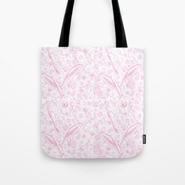 Mermaid Toile - Baby Pink Tote Bag
