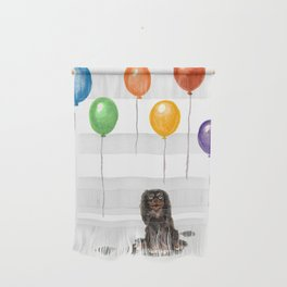 Toy Spaniel with balloons Wall Hanging