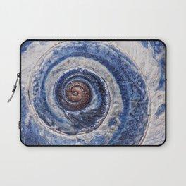 Blue spiral sea snail Laptop Sleeve