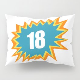 18 colorful, 18, 18. BD, of legal age Pillow Sham