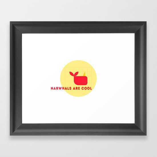 Narwhals are Cool Framed Art Print