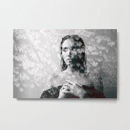 double exposure Metal Print