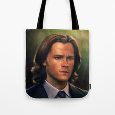 Sam Winchester from Supernatural Tote Bag