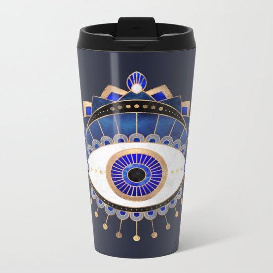 Blue Eye Metal Travel Mug