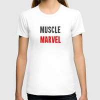 workout T-shirts featuring Workout Collection: Muscle by Kat Mun