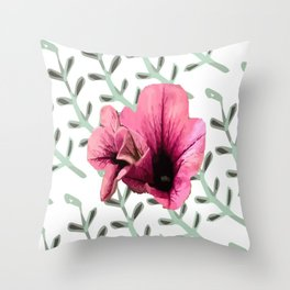 Uno Flower Throw Pillow
