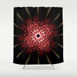 Fractal Fireball Shower Curtain
