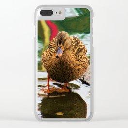 Ain't I Quackin' Cute Clear iPhone Case